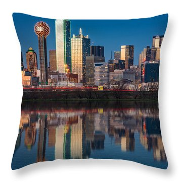 Dallas Skyline Throw Pillow