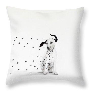 Dalmita V Throw Pillow