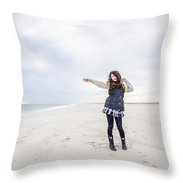 Dance At The Beach Throw Pillow