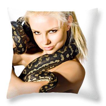 Danger Woman Throw Pillow
