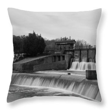 Daniel Pratt Cotton Mill Dam Prattville Alabama Throw Pillow