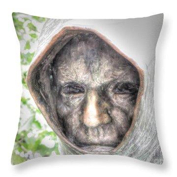 Dark Eyes Throw Pillow