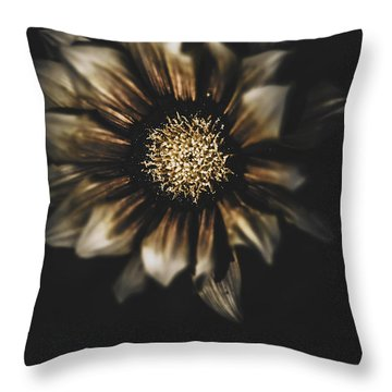Dark Grave Flower By Tomb In Darkness Throw Pillow