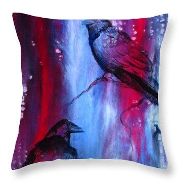 Dark Wings Throw Pillow