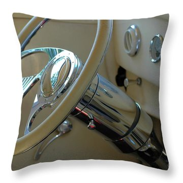 Throw Pillow featuring the photograph Dashboard Glam by Christiane Hellner-OBrien