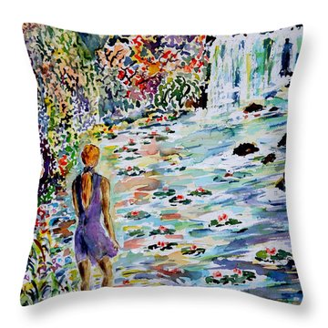 Daughter Of The River Throw Pillow