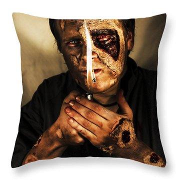 Dead Man Smoking Throw Pillow