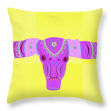 Deer Throw Pillow by Mark Ashkenazi