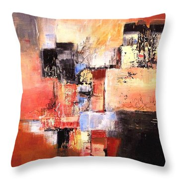 Depth Of Shadows Throw Pillow by Glory Wood