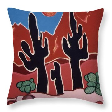 Desert Heat Throw Pillow
