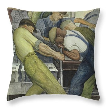 Detroit Industry  North Wall Throw Pillow by Diego Rivera