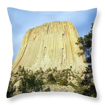 Throw Pillow featuring the photograph Devils Tower National Monument Wyoming Usa by Shawn O'Brien