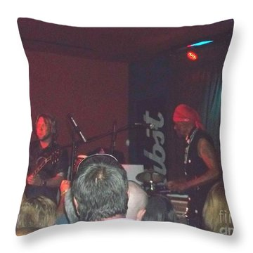 Throw Pillow featuring the photograph Devon Allman And Cyril Neville by Kelly Awad