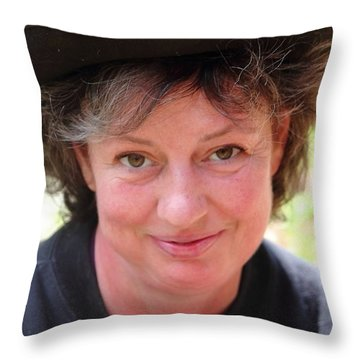 Diane Throw Pillow by Jesse Ciazza