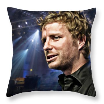 Dierks Bentley Throw Pillow by Don Olea