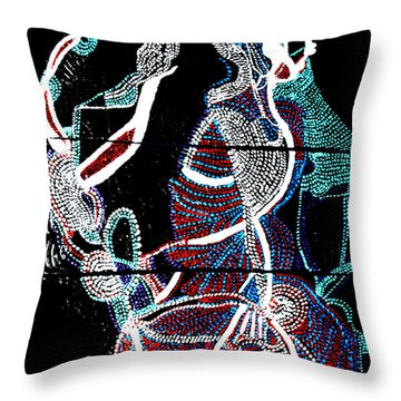 Throw Pillow featuring the painting Dinka by Gloria Ssali
