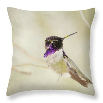 Distracted 3 Throw Pillow by Fraida Gutovich