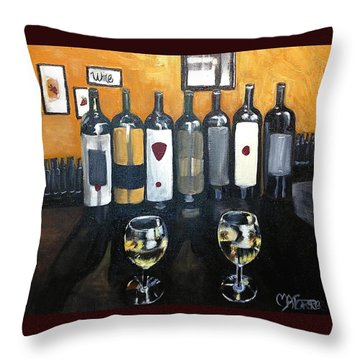 Divine Wine Throw Pillow by Melissa Torres