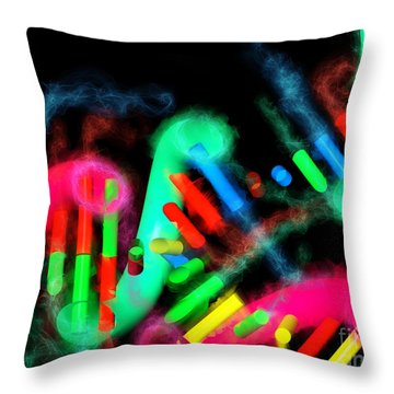 Throw Pillow featuring the digital art Dna Dreaming 7 by Russell Kightley
