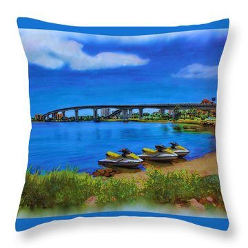 Throw Pillow featuring the painting Do You Sea Doo by Deborah Boyd