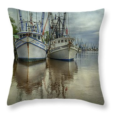 Throw Pillow featuring the photograph Docked by Priscilla Burgers