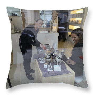 Dog And True Friendship 8 Throw Pillow by Teo SITCHET-KANDA