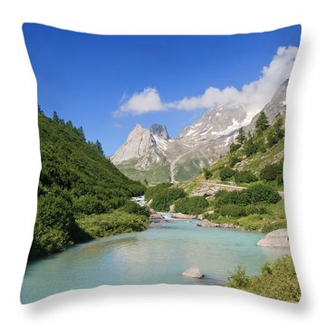 Dora Stream. Veny Valley Throw Pillow