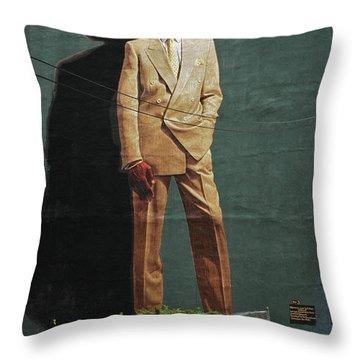 Dr. J. Throw Pillow by Allen Beatty