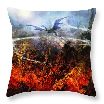 Dragon's Dawn Throw Pillow