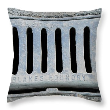 Drain Throw Pillows