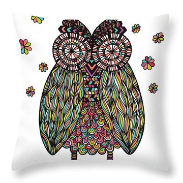 Dream Owl Throw Pillow by Susan Claire