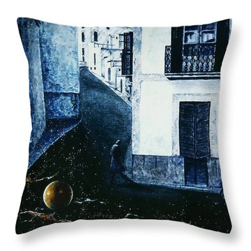 Throw Pillow featuring the painting Dream  Walker by Hartmut Jager