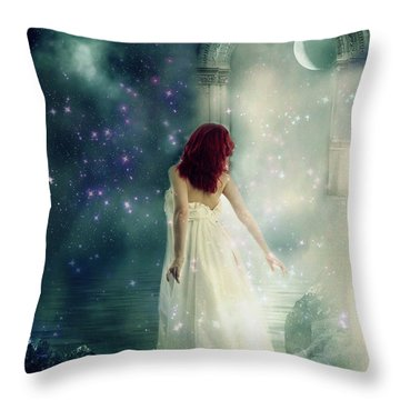 Throw Pillow featuring the digital art Dreams  by Riana Van Staden