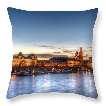 Dresden Skyline Throw Pillow by Steffen Gierok