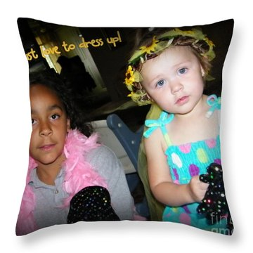 Throw Pillow featuring the photograph Dress-up Time by Bobbee Rickard