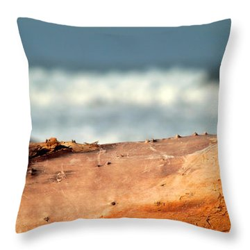 Drift Wood Throw Pillow by Henrik Lehnerer