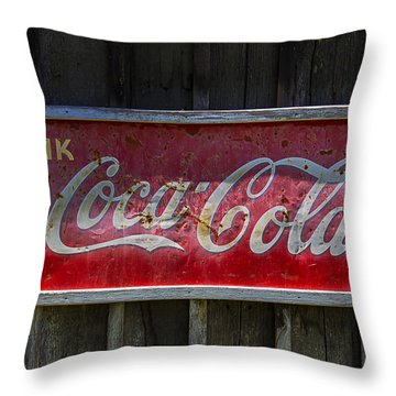 Drink Coca Cola Throw Pillow by Garry Gay