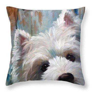 Drip Throw Pillow by Mary Sparrow