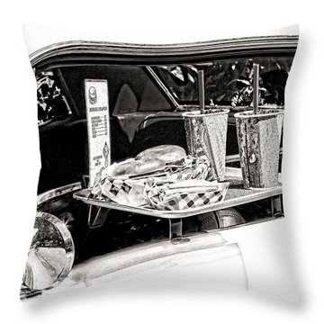 Drive-in Throw Pillow