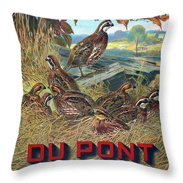 Du Pont Smokeless Throw Pillow