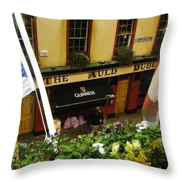 Dublin Pub Throw Pillow by Tim Townsend