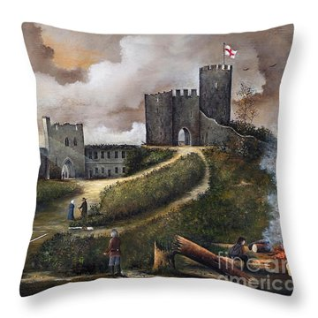 Dudley Castle 2 Throw Pillow