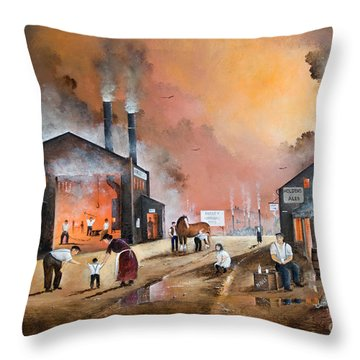 Dudleys By Gone Days Throw Pillow