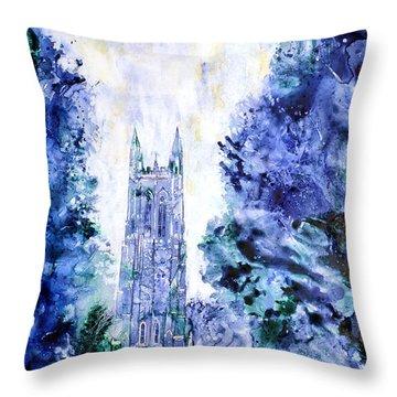 Duke Chapel Throw Pillow by Ryan Fox