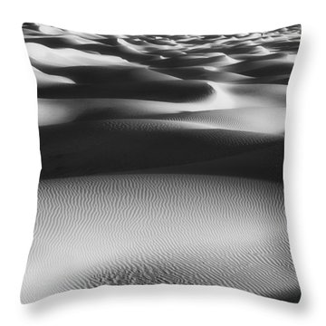 Dunes Death Valley Throw Pillow