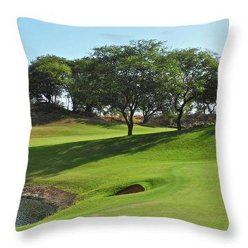 Dunes Of Maui Lani Golf Course  Throw Pillow by Kirsten Giving