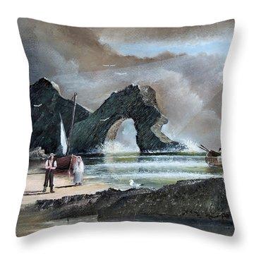 Durdle Door - Dorset Throw Pillow