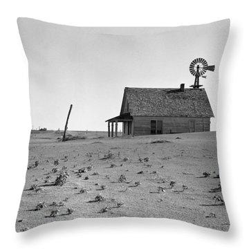 Dust Bowl, 1938 Throw Pillow