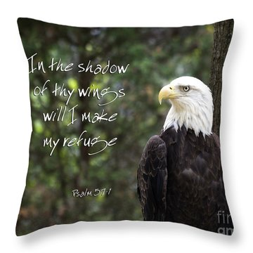 Eagle Scripture Throw Pillow