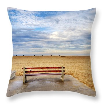 Early Morning At The Beach Throw Pillow